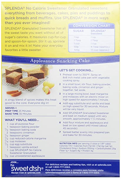 Splenda Sugar Substitute Granulated Box 38 Oz Amazon