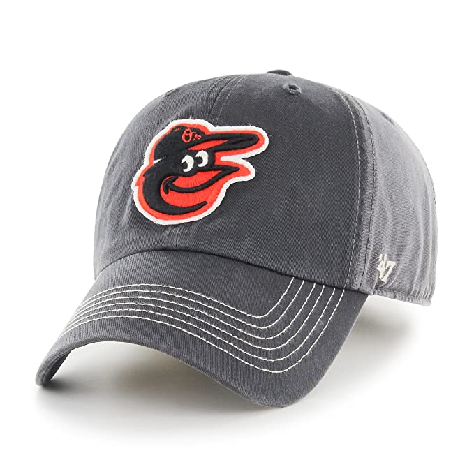 3b615bd7f71d35 '47 MLB Baltimore Orioles Cronin Clean Up Adjustable Hat, One Size, Charcoal