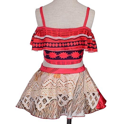 0b098e73af40 Amazon.com  Dressy Daisy Girls Princess Moana Adventure Bathing Suit  Tankini Swimsuit Swimwear  Clothing