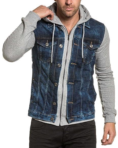 BLZ Jeans - Sweat zippé à Capuche Molleton et Jean Bleu délavé  Amazon.fr   Vêtements et accessoires 633ed0b4b077