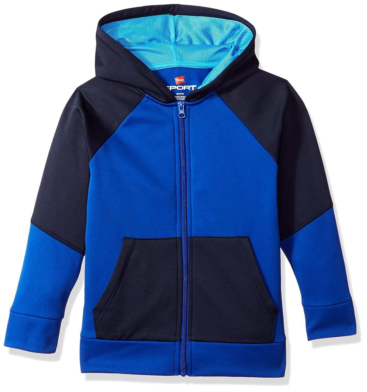 Hanes Boys' Big Tech Fleece Full-Zip Raglan Hoodie OD257