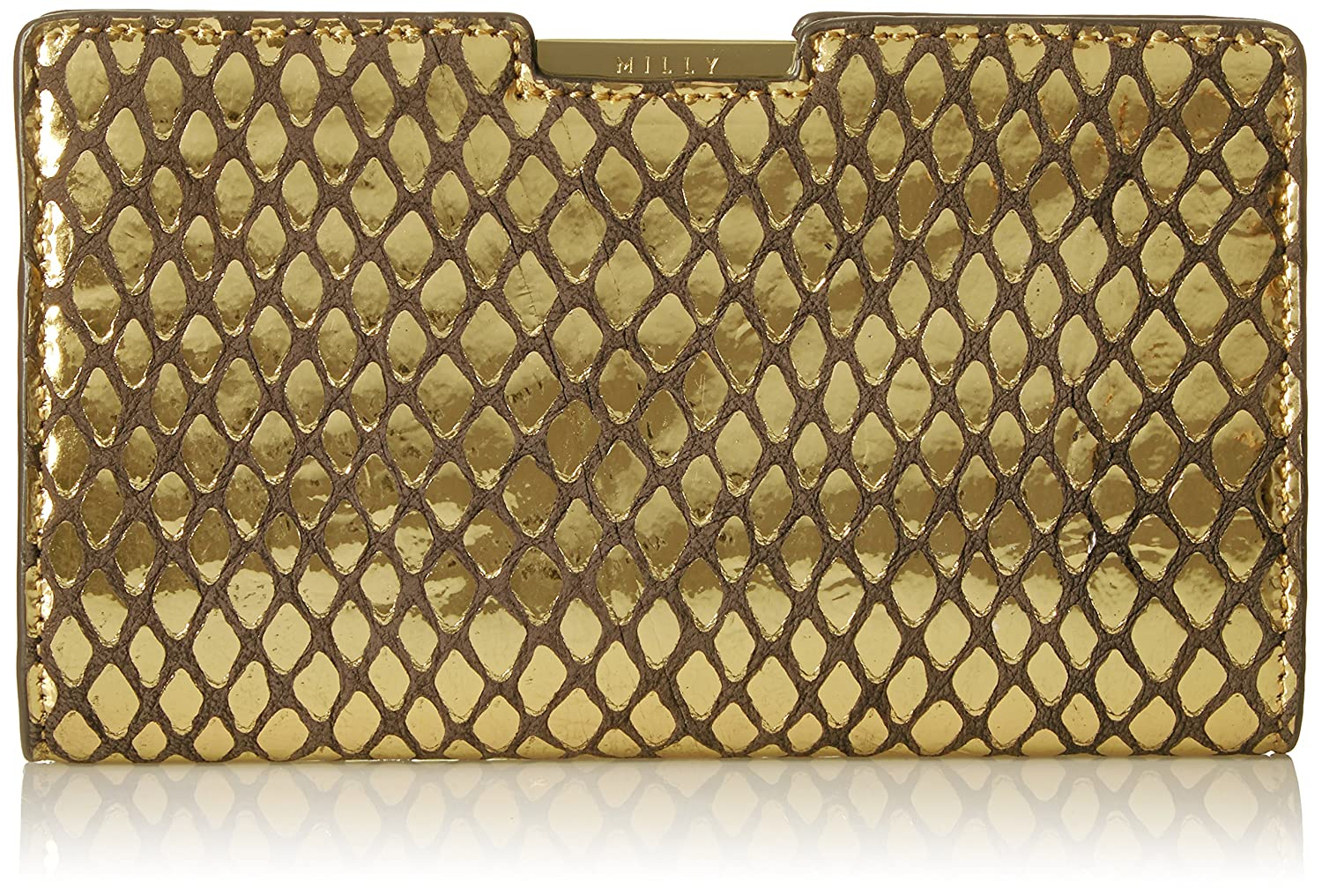 MILLY Metallic Reptile Small Frame Clutch 102MR66316