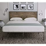Amolife Industrial Queen Size Bed Frame with Headboard/Metal Platform Bed Frame/Mattress Foundation/Strong Slat Support…