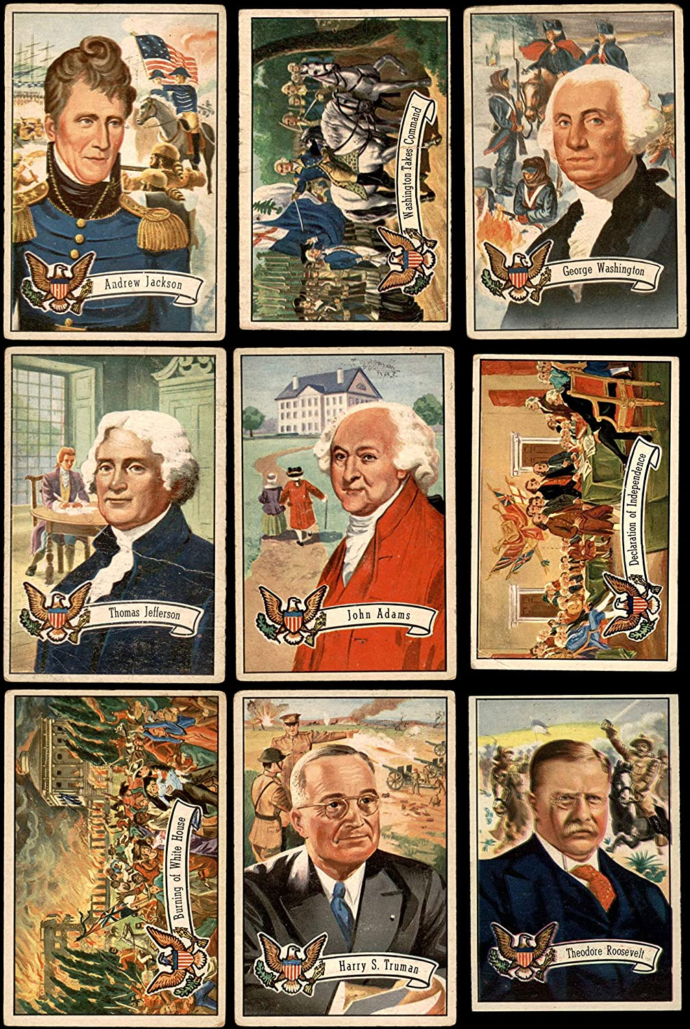 1956 Topps U.S. Presidents Complete Set (Card) Dean's Cards 2.5 - GD+