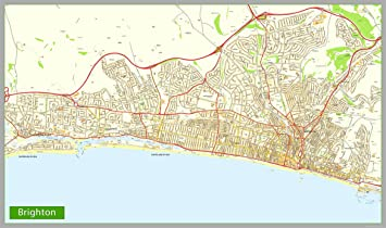 Brighton Street Map Paper 220 X 130 Cm Approx Amazon Co Uk