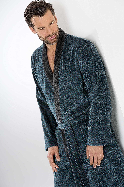 Cawö Herren-Bademantel Kimono 6843 (54, 74 petrol-grau)