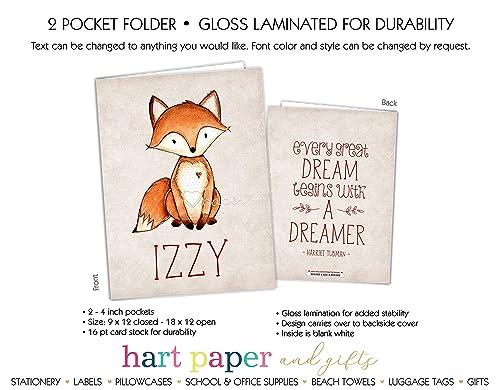 Amazon com: Fox 2 Pocket Folder Gift Name Back to School