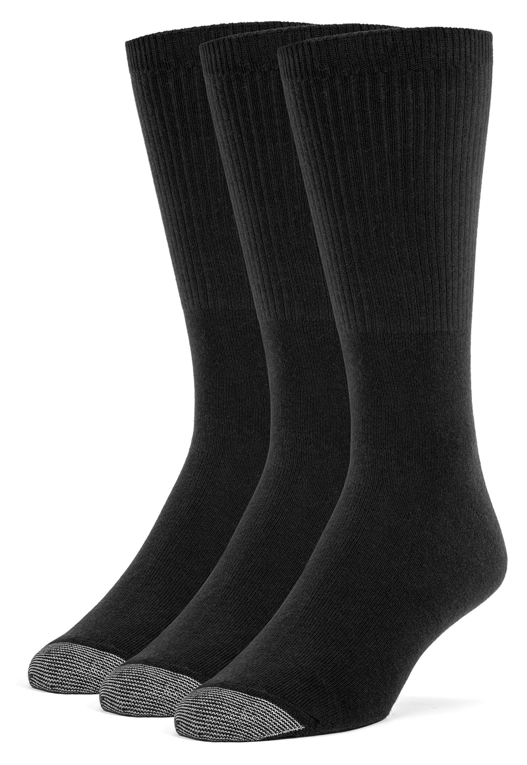 Galiva Men's Cotton Lightweight Fashion Dress Socks - 3 Pairs, Medium, Black