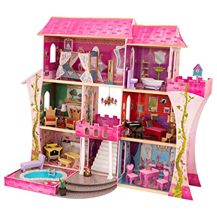 KidKraft Once Upon a Time casa de muñecas + 23 piezas de muebles
