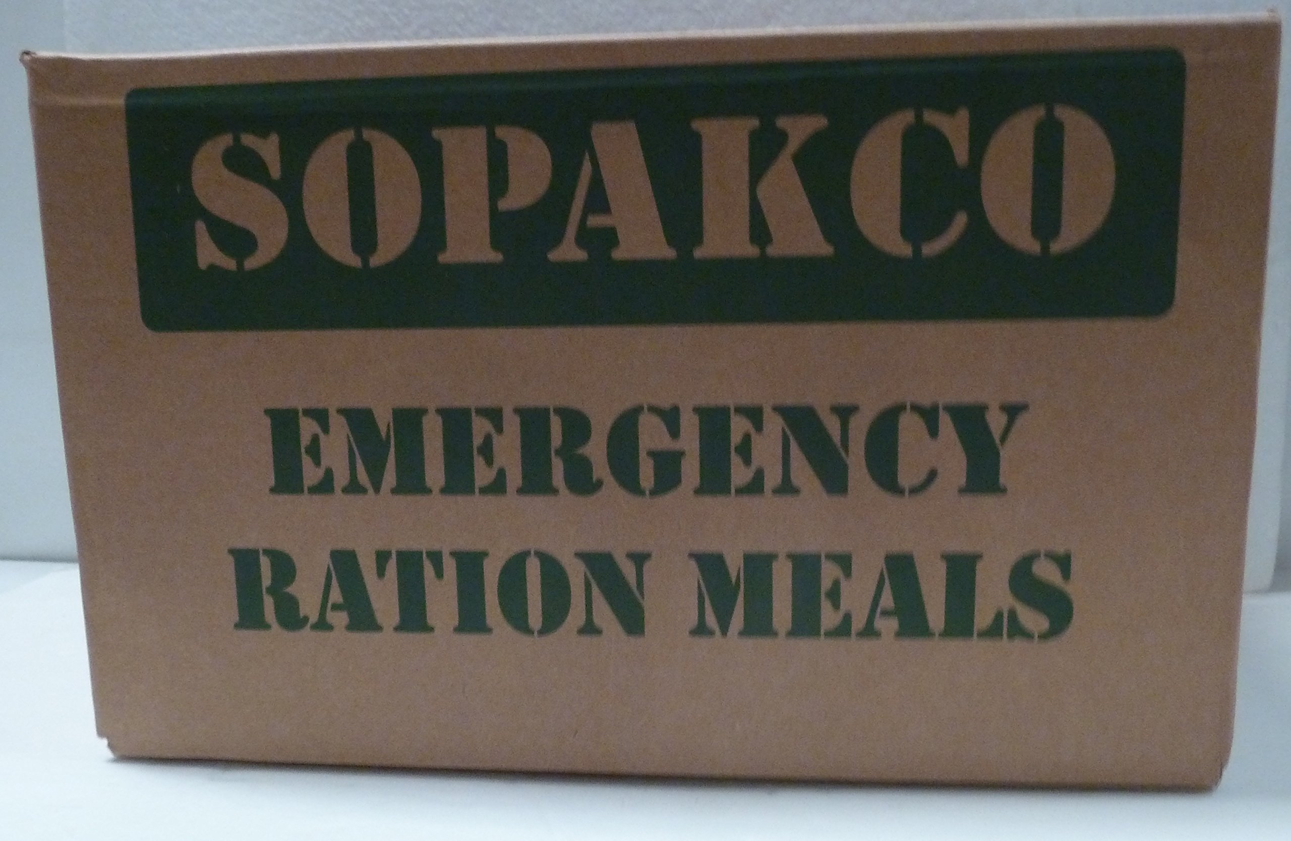 Case / 14 SOPAKCO MRE Emergency Ration Meals Ready to Eat #7244