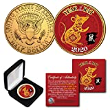 2020 Lunar Chinese New YEAR OF THE RAT Kennedy U.S. Coin with BOX and CERTIFICATE