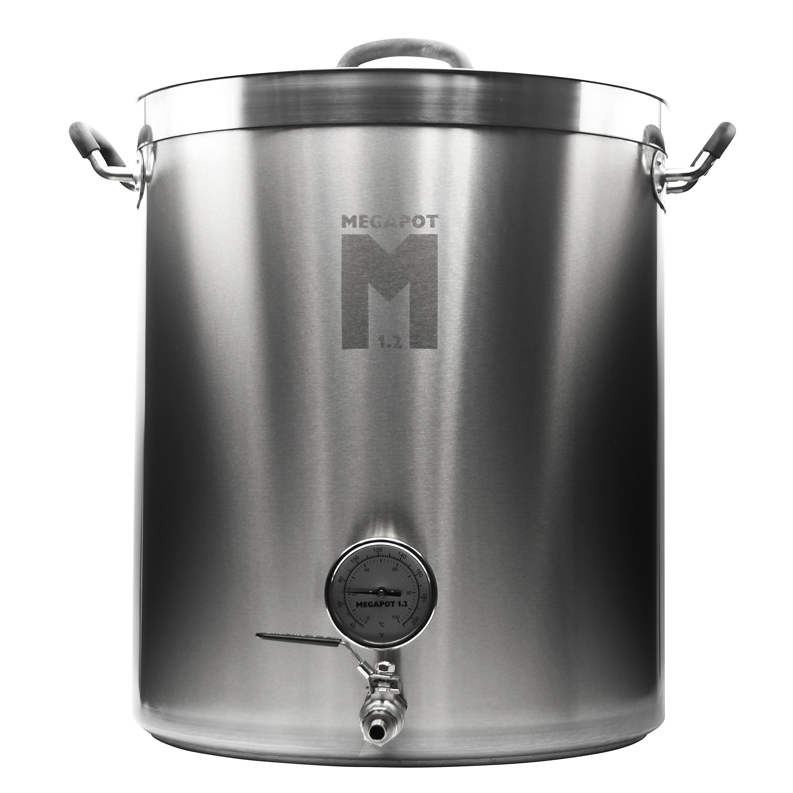 Northern Brewer - Megapot 1.2 Homebrew Stainless Steel Brew Kettle Stock Pot For Beer Brewing (Kettle with a Valve and Thermometer, 15 Gallon/60 Quarts)