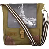 bf3caacc9853 Unisex Messenger Bag designed by ALMOLFA in 12 OZ Cotton Canvas -Biking Bag  - Military