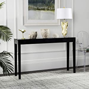 Safavieh Home Collection Mid-Century Scandinavian Kayson Black Lacquer Console Table
