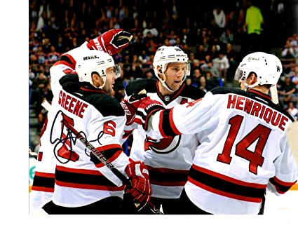 official photos 89170 25bab New Jersey Devils Andy Greene signed 8x10 at Amazon's Sports ...