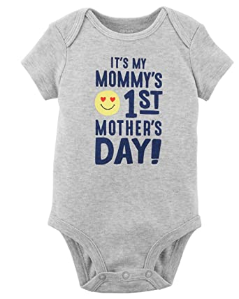 64e186f3f Amazon.com  Carter s Baby Boys  Mother s Day Collectible Bodysuit ...
