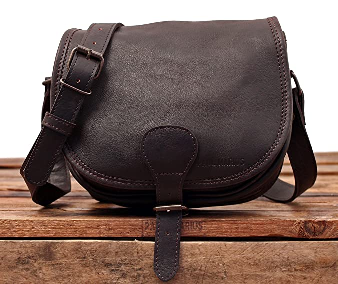 LE BOHEMIEN Dark Brown leather shoulder bag bohemian style adjustable strap  PAUL MARIUS  Amazon.co.uk  Shoes   Bags 5ff7778158052
