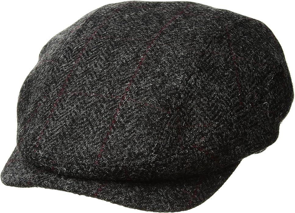 Mucros Ireland Wool Hat Charcoal Herringbone Tweed Irish Made Small ... 5d6349a6526