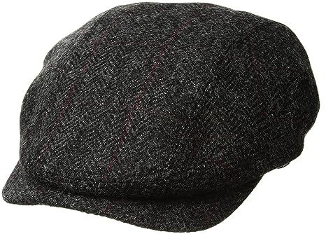 18111166fde8f Irish Flat Cap Charcoal Herringbone Tweed Made in Ireland  Amazon.ca ...