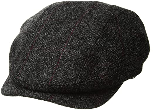 Image Unavailable. Image not available for. Color  Mucros Ireland Wool Hat  Charcoal Herringbone Tweed ... c500de8d55a6