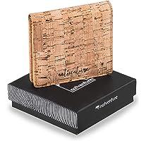 natventure® Sequoia Geldbörse Damen klein - Vegan aus Kork-Leder - Frauen Portemonnaie mit RFID Schutz - Geldbeutel & Portmonee Damen