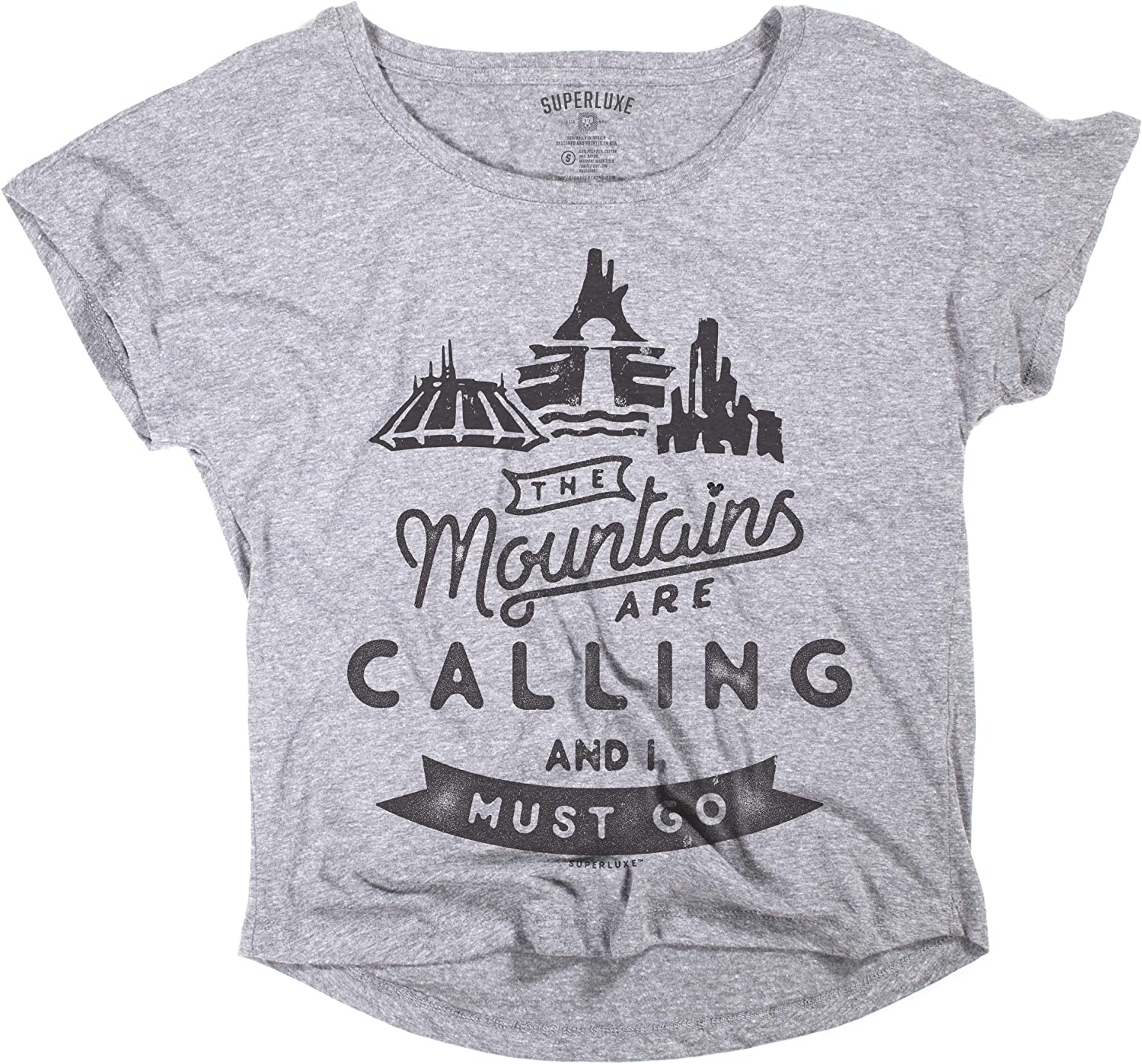 Superluxe Clothing Womens Mountains are Calling and I Must Go T-Shirt