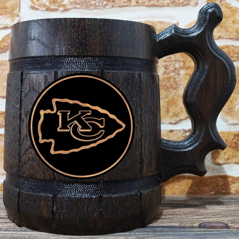 eef54436 Amazon.com: Kansas City Chiefs Beer Mug, American Football Wooden ...