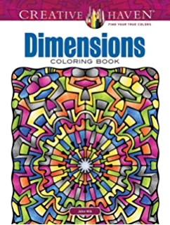 Creative Haven Dimensions Coloring Book Adult