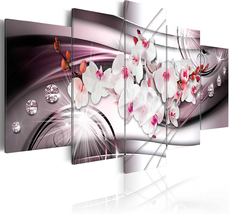 murando - Cuadro en Lienzo 100x50 cm Flores Impresión de 5 Piezas Material Tejido no Tejido Impresión Artística Imagen Gráfica Decoracion de Pared DEA Diamondo b-A-0238-b-o