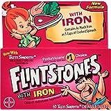 Flintstones Chewable Multivitamins with Iron, 60 Count