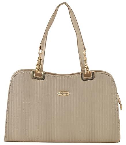 4b0c5902fc Gouri Bags Stylish Trendy Golden Handbags Shoulder Soft Leather Bag Women  Ladies Girl Purse Office Bag