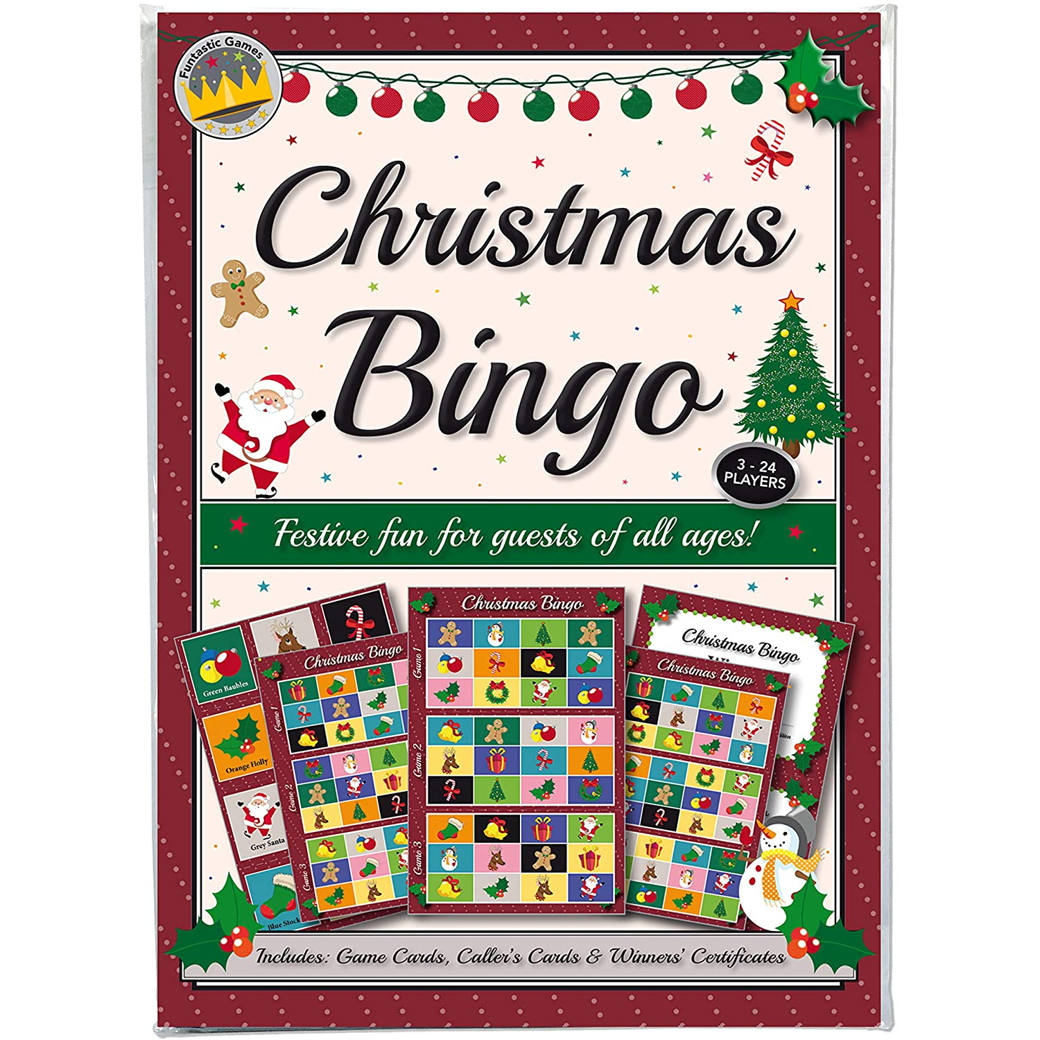 CHRISTMAS PARTY BINGO GAME: FUN & GAMES FOR FAMILY, OFFICE AND KIDS ...