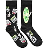 Rick and Morty Peace Among Worlds Men's Crew Socks 2 Pair Pack