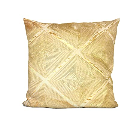 Amazon.com: Casa Metallic Dec - Almohada, color dorado: Home ...