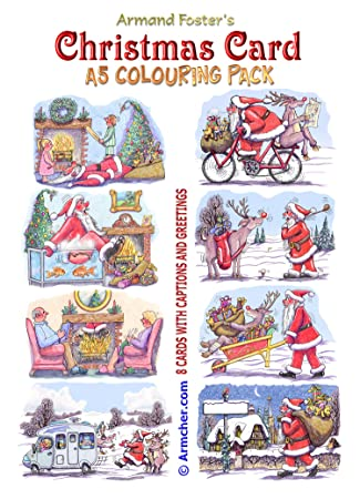 colour your own a5 christmas card pack by armand foster amazon co