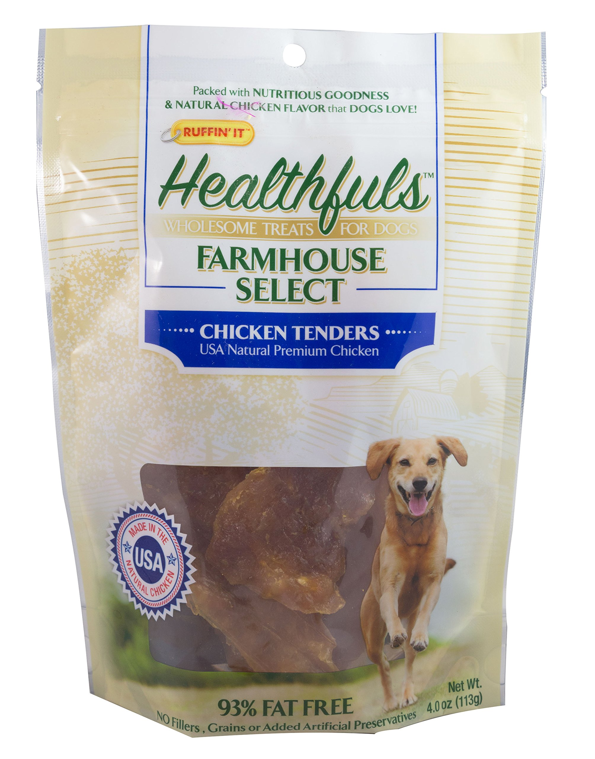 Ruffin It Healthfuls Wholesome Chicken Tenders Treat For Dogs - Made in USA, 3-Pack (12oz in Total) by Ruffin It (Image #2)