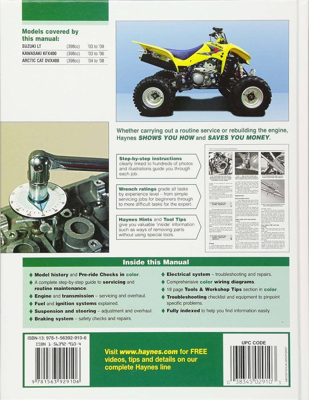 Amazon Com Suzuki Kawasaki Arctic Cat Atvs 2003 To 2009 Lt Z400 DVX 400  Custom Amazon