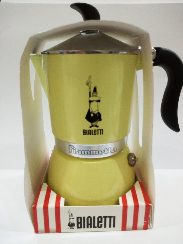 Cafetera Bialetti Fiammetta 3 tazas Amarillo: Amazon.es: Hogar