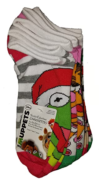 Disney The Muppets Christmas 6 Pairs No Show Socks