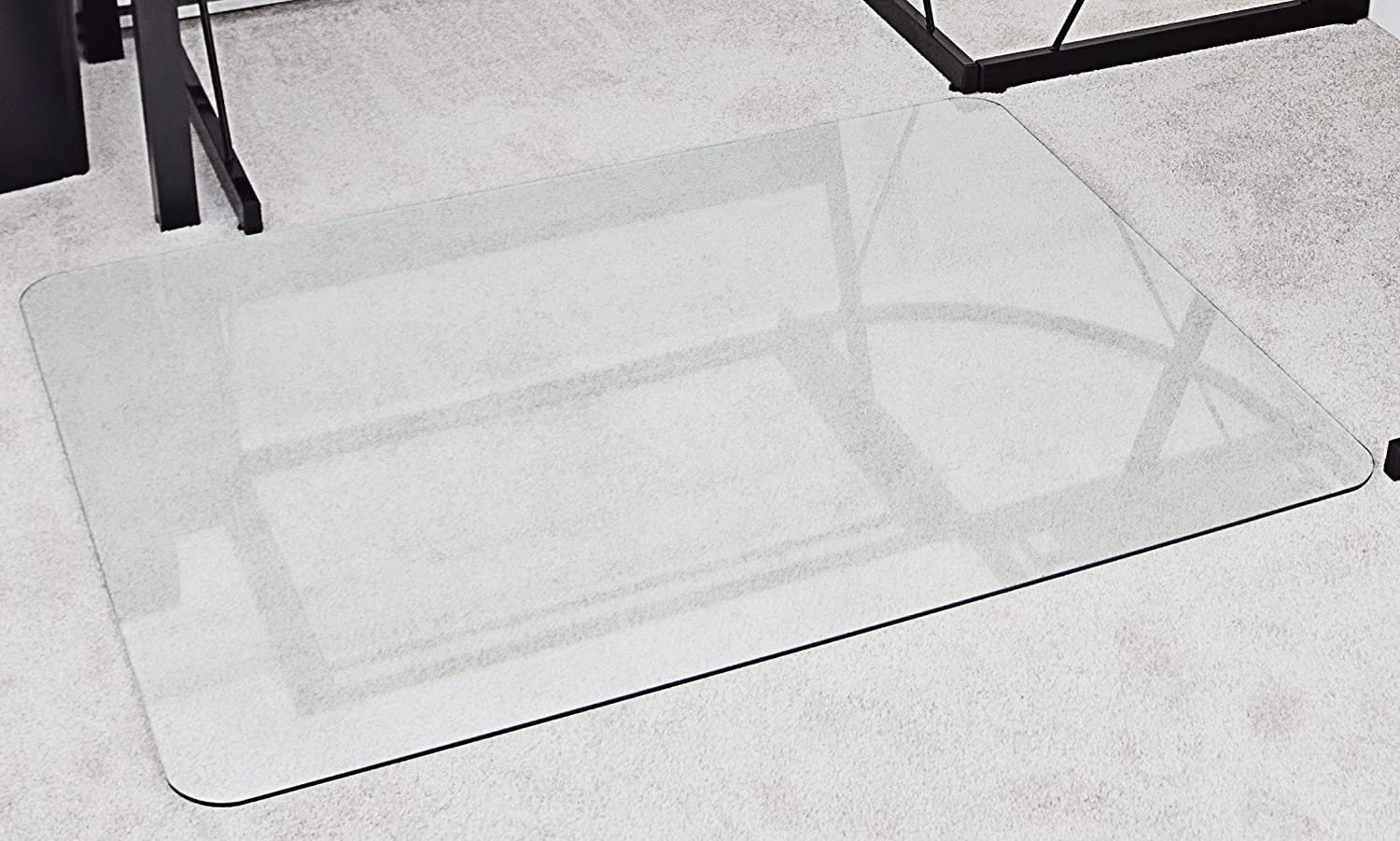 Superbe Amazon.com : MyGlassMat 36 X 48 Inch Tempered Glass Chair Mat For Carpet  And Hard Floors, Rounded Corners, Smooth Polished Edges, 1/4 Inch Thick, ...