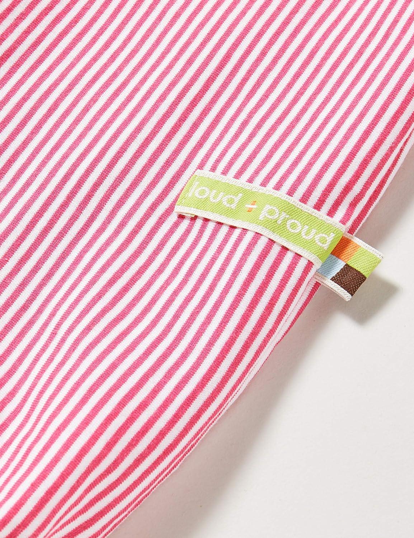 proud Striped Short Overall Organic Cotton Ghette Bimba loud