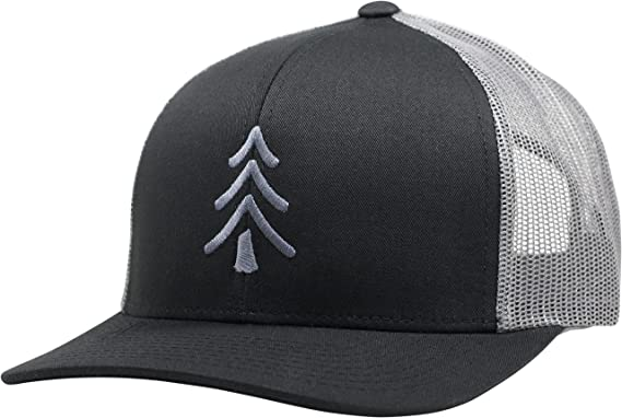 01f9ee92ff2d6d Lindo Trucker Hat - Pine Tree (Black/Graphite) at Amazon Men's ...