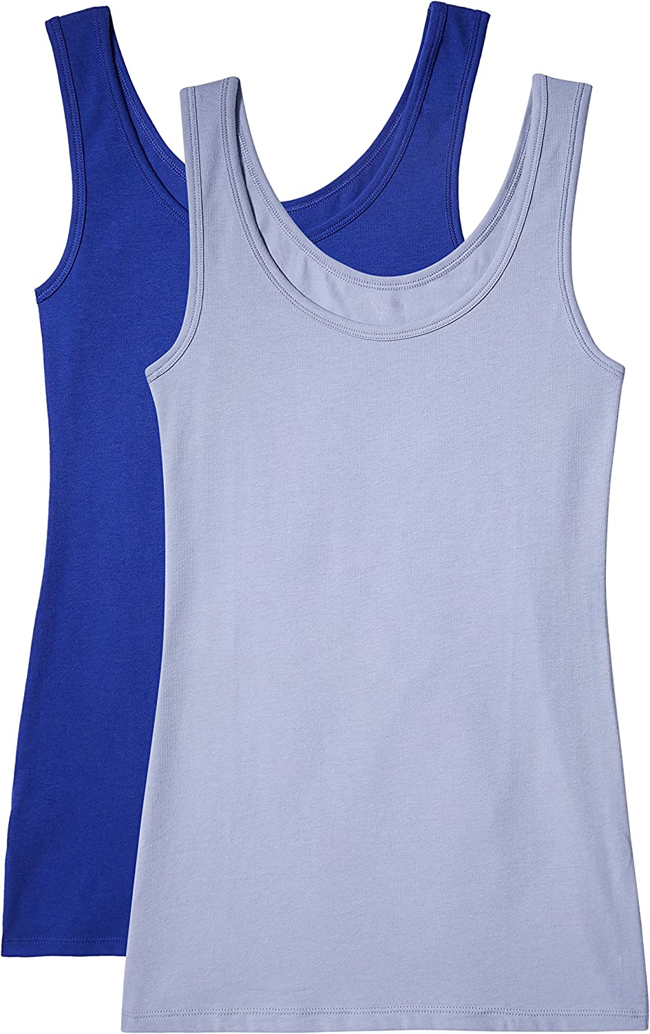 Pack of 2 Iris /& Lilly Womens Cotton Tank Top