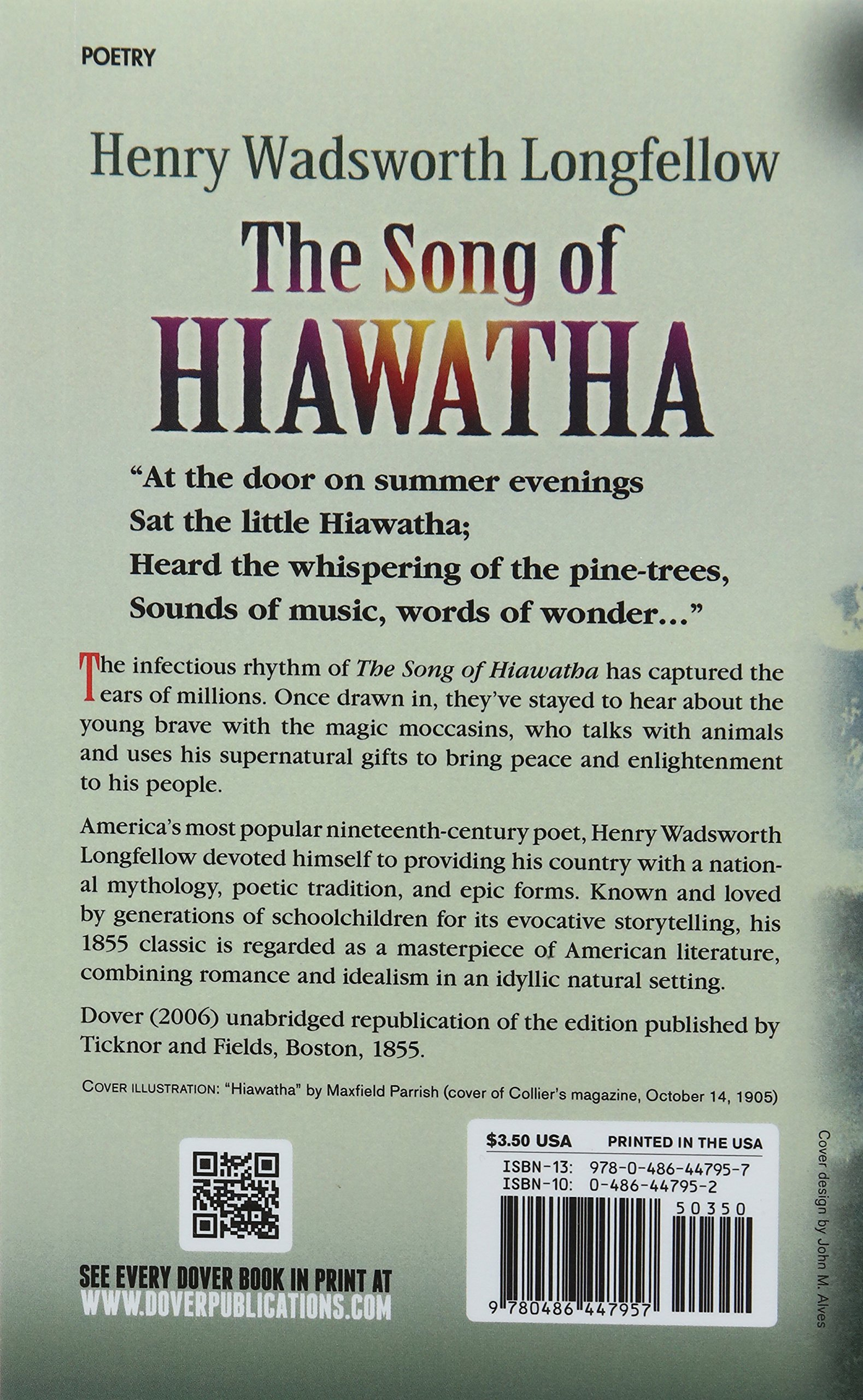 The Song Of Hiawatha Dover Thrift Editions Henry Wadsworth