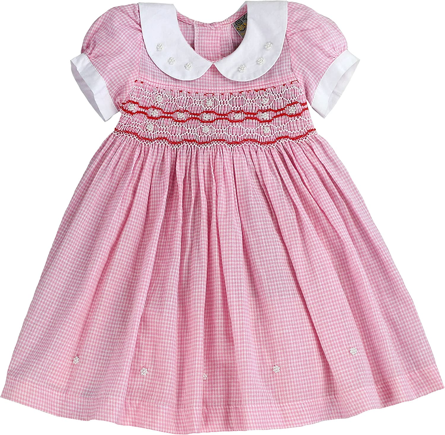 Amazon.com: Infant and Toddlers (7M-7T) Soft Gingham Hand Smocked