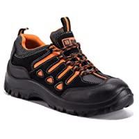 Black Hammer Mens Safety Boots Steel Toe Cap Work Shoes Ankle Trainers Hiker 6682