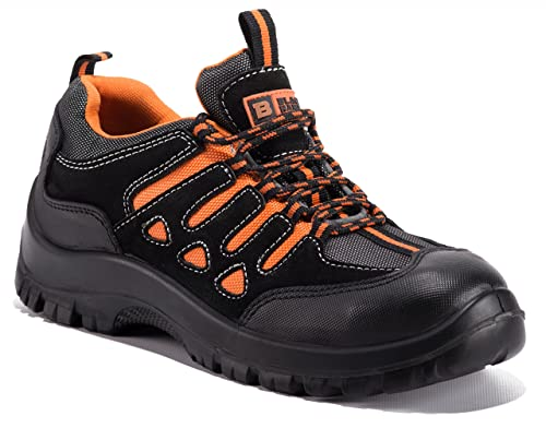 22b7ec7bc6 Black Hammer Mens Steel Toe Cap Trainers Safety Comfortable Lightweight  Shoes Ankle Boots Hiker 6682 SB SRC