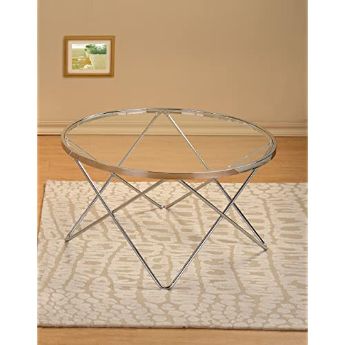 Round Coffee Table Chrome Finish: Round Metal Coffee Tables: Amazon.com