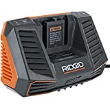 Ridgid R840095 Gen5X Genuine OEM Dual Chemistry Battery Charger for 18V lithium ion or NiCad batteries with Temperature…