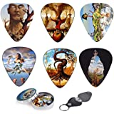 Surreal Art Guitar Picks 12 Pack W/Tin Box & Picks Holder. Celluloid Medium Artworks Inspired By Salvador Dali Perfect Christmas Gift For Guitar Lover By Art Tributes